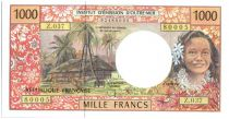 French Pacific Territories 1000 Francs Tahitian woman - Hut - 2006 alph Z.37