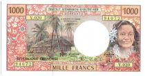 French Pacific Territories 1000 Francs Tahitienne - Hibiscus - 2000 alph Y.20