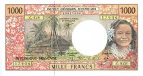 French Pacific Territories 1000 Francs Tahitienne - Hibiscus - 2000 alph Z.20