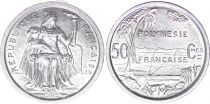 French Pacific Territories 50 Centimes Liberty seated - 1965
