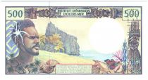 French Pacific Territories 500 Francs Fisherman - Marquises Islands - Specimen