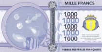 French Southern Territories 1000 Francs Bassas da India, turtle, boat - 2018 - Fantaisy