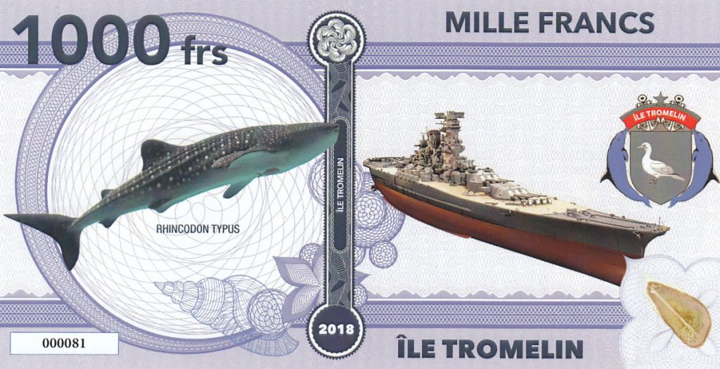 French Pacific Territories 1000 Francs p-6 2014 UNC Banknote 1