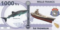 French Southern Territories 1000 Francs Tromelin island, Whale, arms - 2018 - Fantaisy