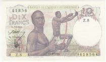 French West Africa 10 Francs Hunters - 18-01-1946 Serial Z.8 - P. 37