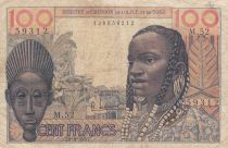 French West Africa 100 Francs 1957 - Mask, woman\'s head