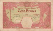 French West Africa 100 Francs Dakar - 24-09-1926 Serial L.131