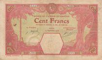 French West Africa 100 Francs Dakar - 24-09-1926 Serial L.131