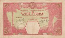 French West Africa 100 Francs Dakar - 24-09-1926 Serial S.159 - P.11B