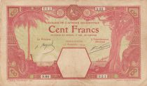 French West Africa 100 Francs Grand-Bassam - 13-11-1927 Serial D.86