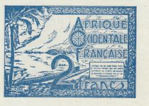 French West Africa 2 Francs Beach - 1944 - P.35