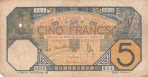 French West Africa 5 Francs Lion - Dakar - 1919 to 1932