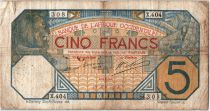 French West Africa 5 Francs Lion - Dakar 28-05-1918 Serial X.404
