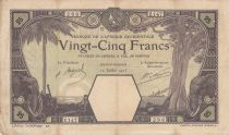 French West Africa 50 Francs Grand-Bassam - Elephants, ship - 12-07-1923 - Serial Z.147