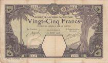 French West Africa 50 Francs Grand-Bassam - Elephants, ship - 12-07-1923 - Serial Z.147