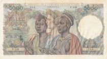 French West Africa 5000 Francs 22-12-1950 Serial P.248 - P.43