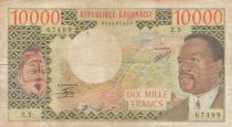 Gabon 10000 Francs Omar Bongo - ND1974 Serial Z.5