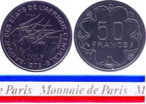 Gabon 50 Francs - 1976 - Test strike