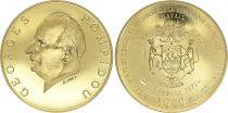 Gabon 5000 Francs Georges Pompidou - 1971 - Gold - AU