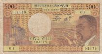 Gabon 5000 Francs Omar Bongo - ND1974 Série G.4