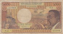 Gabon 5000 Francs Omar Bongo - ND1974 Série V.3