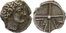 Gallia Obole of Marseille,  Head of Apollo to the right - MA (c.350-320)