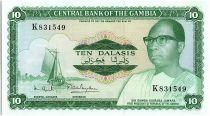 Gambia 10 Dalasis  -  D Kairaba Jawara  - (1972-86)