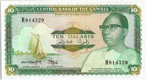 Gambia 10 Dalasis  - D. Kairaba Jawara  - (1987-90)