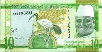 Gambia 10 Dalasis Bird - Dr Alh Yahya J. J. Jammeh - 2015