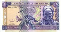 Gambia 50 Dalasis  - Hoopoe Bird and Woman - 1996