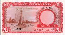 Gambie 1 Pound 1965 - Bateau à Voile - Dock