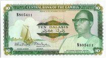 Gambie 10 Dalasis  -  D  Kairaba Jawara  - (1987-90)