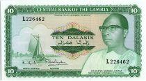 Gambie 10 Dalasis  -  D. Kairaba Jawara  - (1972-86)