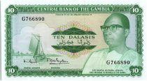 Gambie 10 Dalasis -  D Kairaba Jawara  - (1972-86)