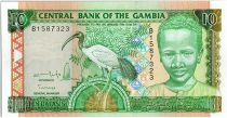 Gambie 10 Dalasis  - Jeune Homme et Ibis - 1996