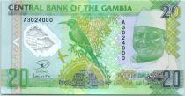 Gambie 20 Dalasis Dr J. J. Jammeh - 20 ans de Progrès - Polymer 2014 (2015)