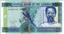 Gambie 25 Dalasis  - Homme et oiseau - 1996