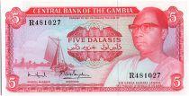 Gambie 5 Dalasis -  D Kairaba Jawara  -  (1972-86)