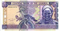 Gambie 50 Dalasis  - Femme et oiseau - 1996