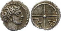 Gaul Obole of Marseille,  Head of Apollo to the right - MA (c.350-320)