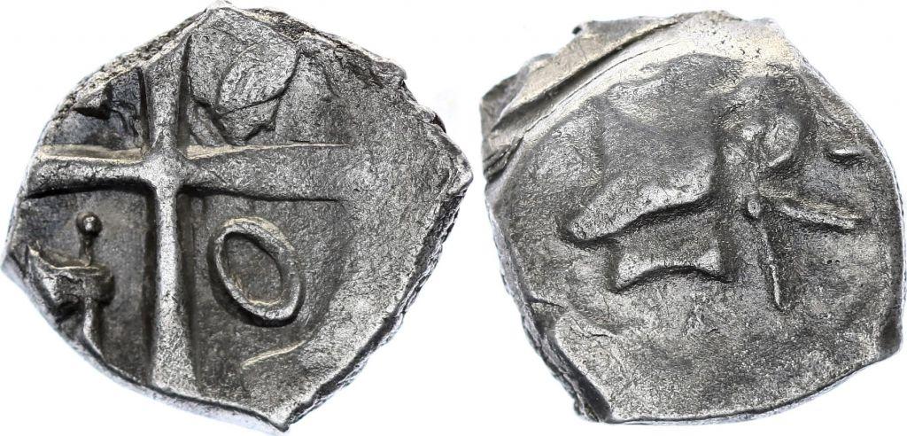 Gaule Drachme, Volques Tectosages - Drachme à la tête cubiste - 12 em ex