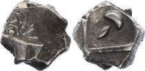 Gaule Drachme, Volques Tectosages - Drachme à la tête cubiste - 7 em ex