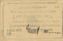 German East Africa 1 Roupie Black