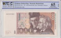 Germania (Repubblica Federale) 1000 Deutsche Mark  - W and J Grimm - 1991 - PCGS 65 OPQ