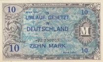 Germania 10 Mark AMC, blue on lt blue - 1944 8 digit 72390209 without F
