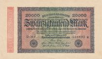 Germania 20000 Mark Black on pick and green - G D watermark 1923