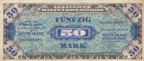 Germania 50 Mark AMC, blue on lt blue - 1944 9 digit 042003925 with F