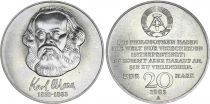 Germany (DDR) 20 Mark - Karl Marx - 1983 - VF to XF - P.95