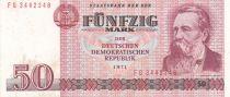 Germany (DDR) 50 Mark Freiderich Engels - 1971 - VF+