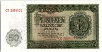 Germany (DDR) 50 Mark Green and ligh Green - 1948